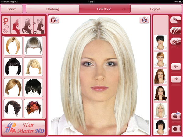 Hair Style App Hair Master Hd  Virtual Hairdresser For Ipad  Virtual Hairstudio