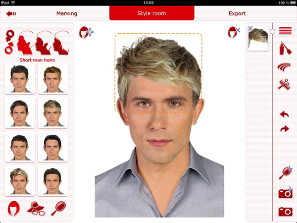 selection of men's hairstyles